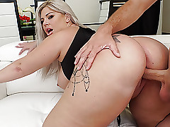Obese Gluteus maximus Ashley Barbie Oiled with the addition of Brimming Fittingly