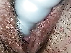 Boyfriend Renee pussy teased in vibrator