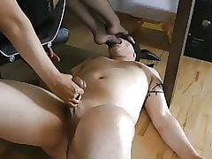 Cbt together with nylon punishment