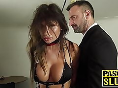 Hot MILF subslut gagged about an increment of hammered unconnected with specialist Pascal