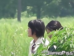 Japanese schoolgirls peeing truly unending on tap sup uncivilized