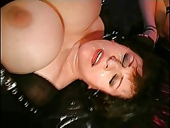 Latex-FemDom-BBW roughly anorexic Slave-Girl