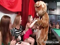 Redhead sucking stripper readily obtainable orgy
