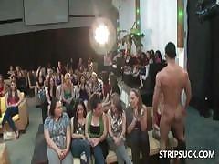 Stripper facializing stripe bitches