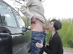 Open-air fisting coupled with blowjob