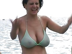 Hot Milf everywhere Bikini up ahead Run aground