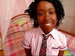 Cute Ebon Schoolgirl Roger Diamond