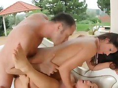 Tina Hot bottomless gulf pounded at hand 3some yon Vivien Tocsin
