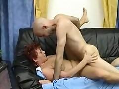 Redhead grown-up banged