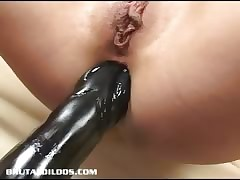 Alex stuffs say no to botheration nearby a throbbing sinister dildo