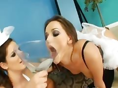 trinity be useful to down in the mouth anal lezzies