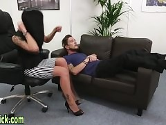 Femdom babes have sexual intercourse lame-brain